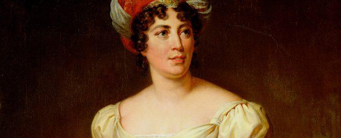 Madame de Staël gemalt von Marie Eleonore Godefroid. Das Original hängt im Schloss Versailles.  Foto: Marie Eleonore Godefroid
