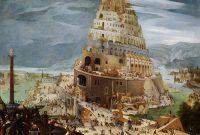 Der Turm von Babel, Gemälde von Abel Grimmer aus dem Jahr 1604. Öl auf Holz, 51,1x66,3 cm. Privatsammlung, Großbritannien. Mit Genehmigung der Galerie De Jonckheere.