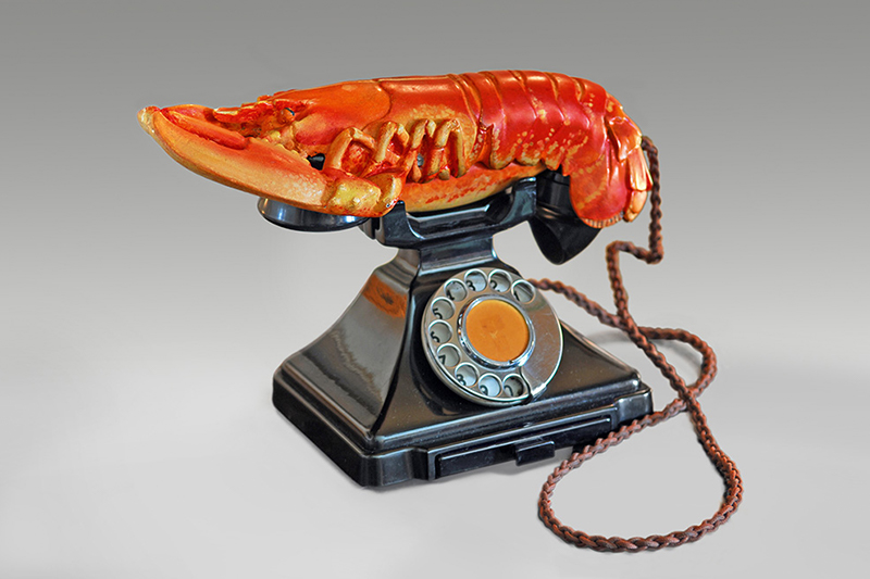 Hummer-Telefon, von Dalí in Zusammenarbeit mit dem Dichter Edward James entworfen.